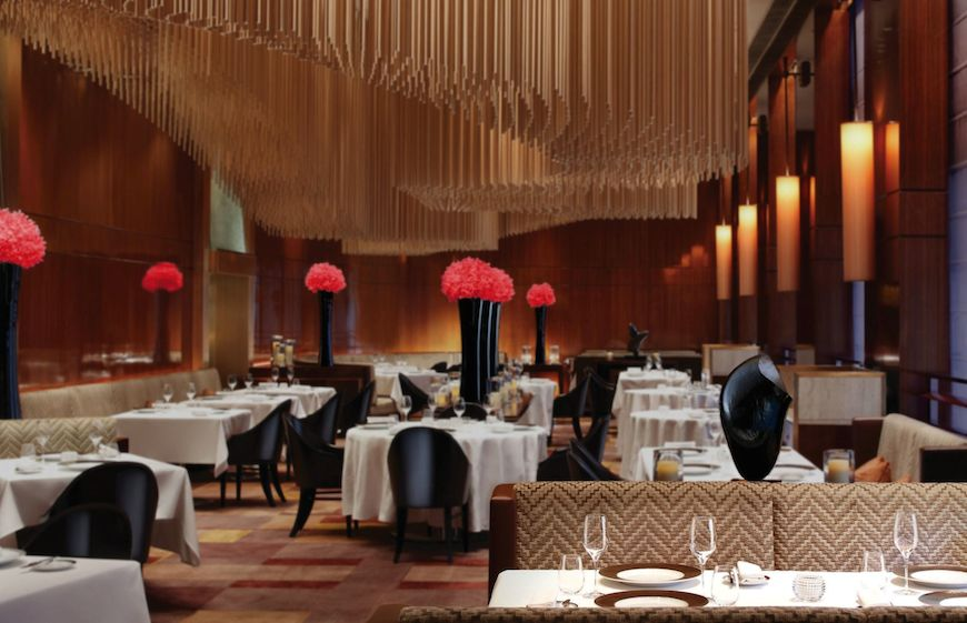 Amber Restaurant at The Landmark Mandarin Oriental Hotel Hong Kong