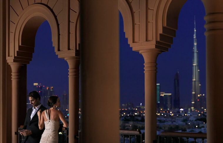 Dubai Mercury Lounge view by night