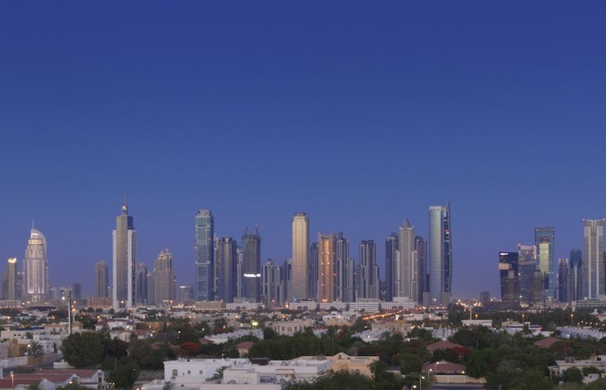 Dubai view from the Four Seasons Hotel