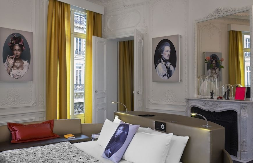 An Extreme Wow Suite at the W Paris-Opera hotel