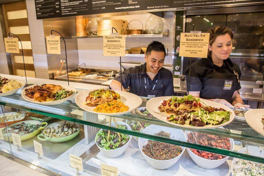 Restaurant staff preparing healthy food for Airgrub