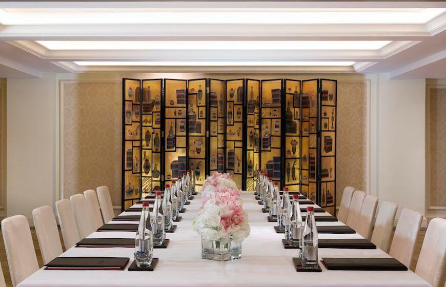 A meeting room at the Peninsula Hong Kong