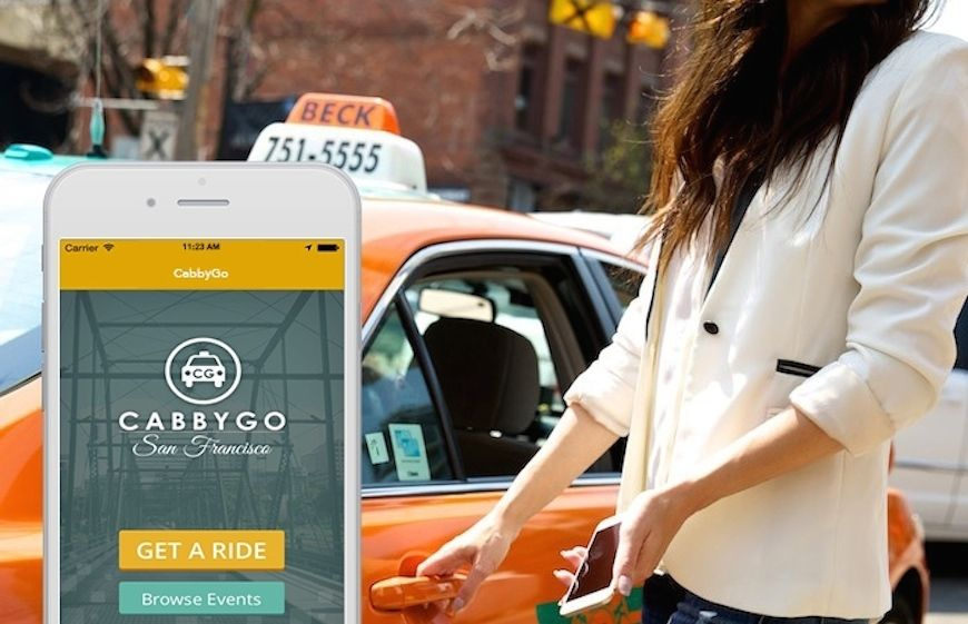 A woman getting into a taxi