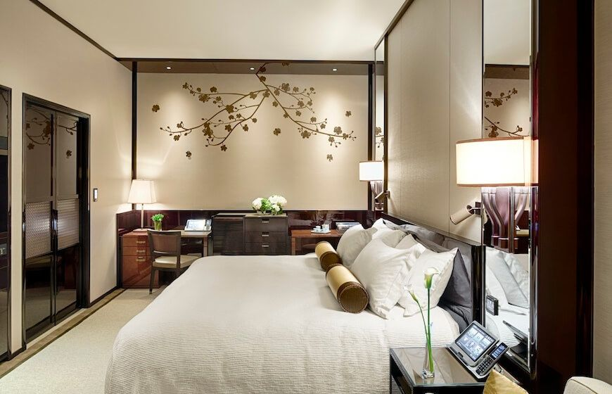 A guest room at The Peninsula Hong Kong