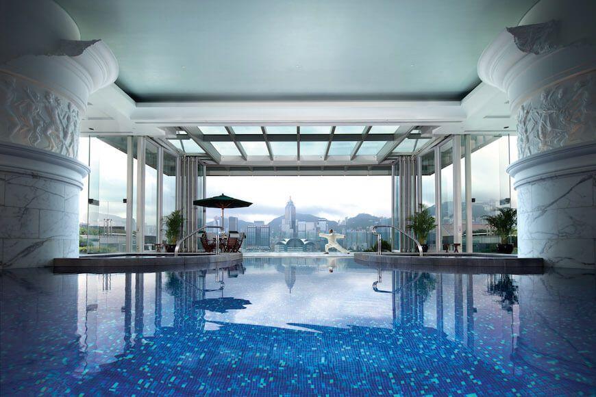 The pool at the Peninsula Hong Kong