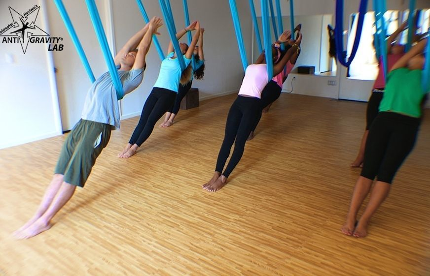 An AntiGravity Fitness class in New York City