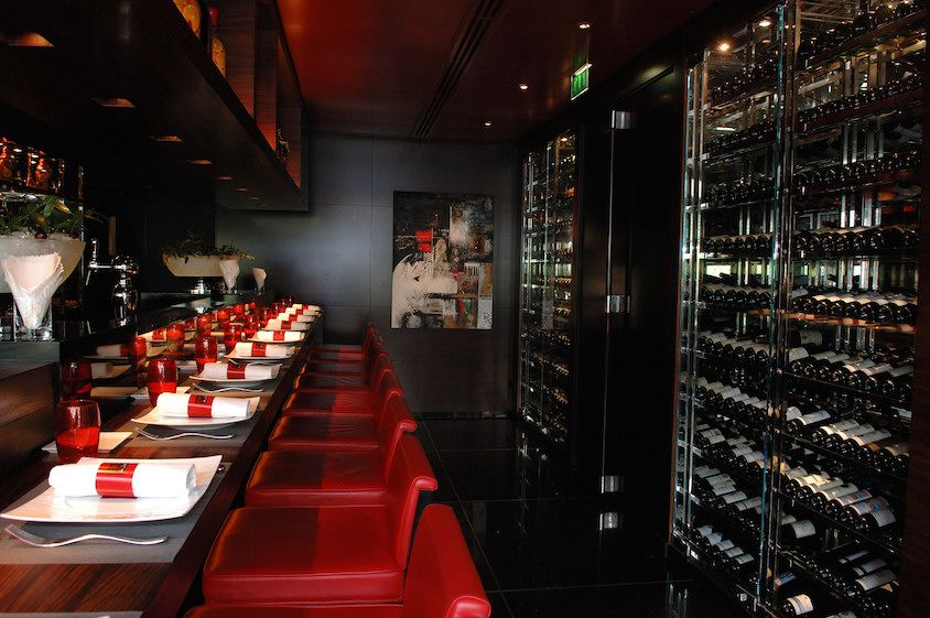 interior of L'Atelier de joel Robuchon St Germain in Paris