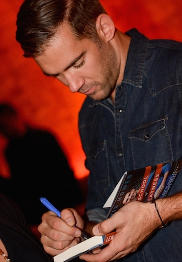 Lewis Howes at his book signing in New York City