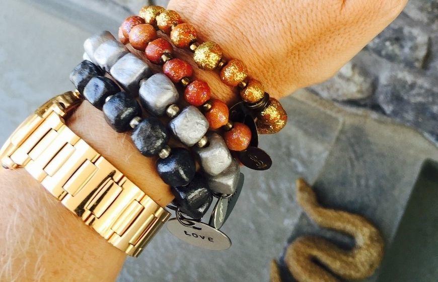Simbi INC bracelets in golds