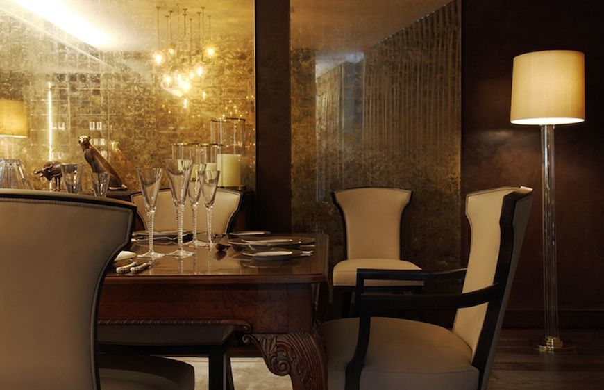 Walnut table and interior design by the luxury design company, Casa Forma