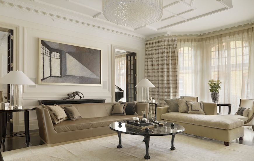 The reception room of a residence in Mayfair designed by Casa Forma
