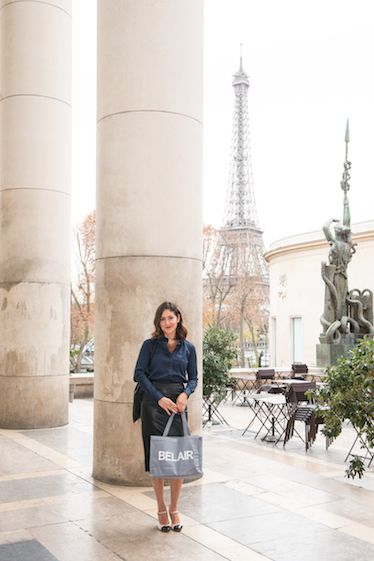 Eliana Sanchez Phaneuf on a shopping spree for a client in Paris