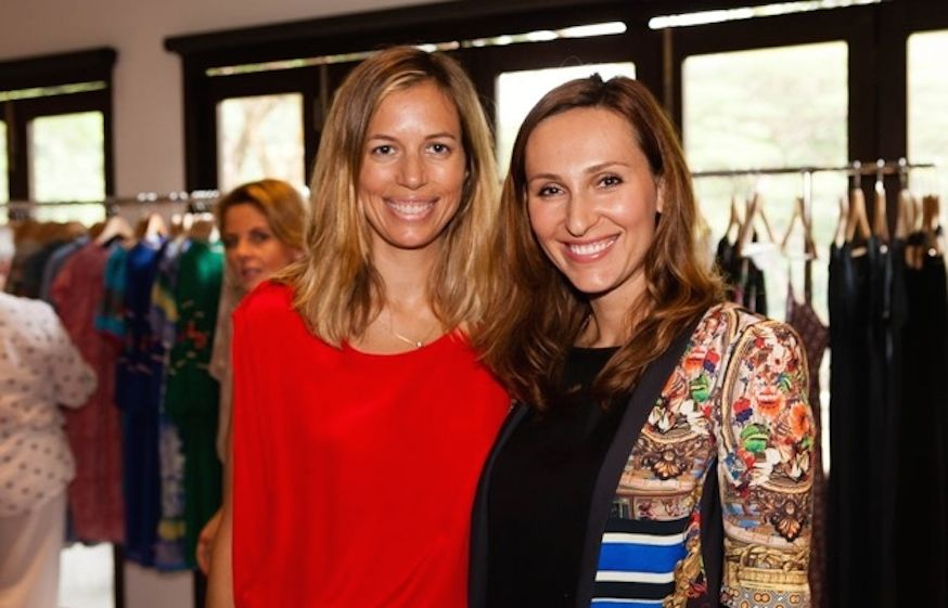 Singapore-based personal stylist Julia Blank with a client