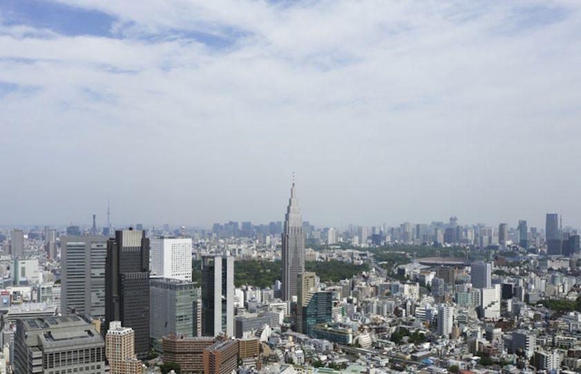 A guest room view at the Park Hyatt Tokyo