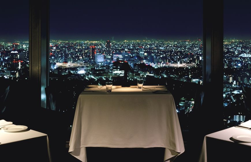 View by night from a Park Hyatt Tokyo restaurant