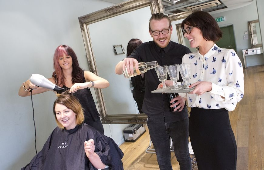 Staff at The Chapel hair salon in London