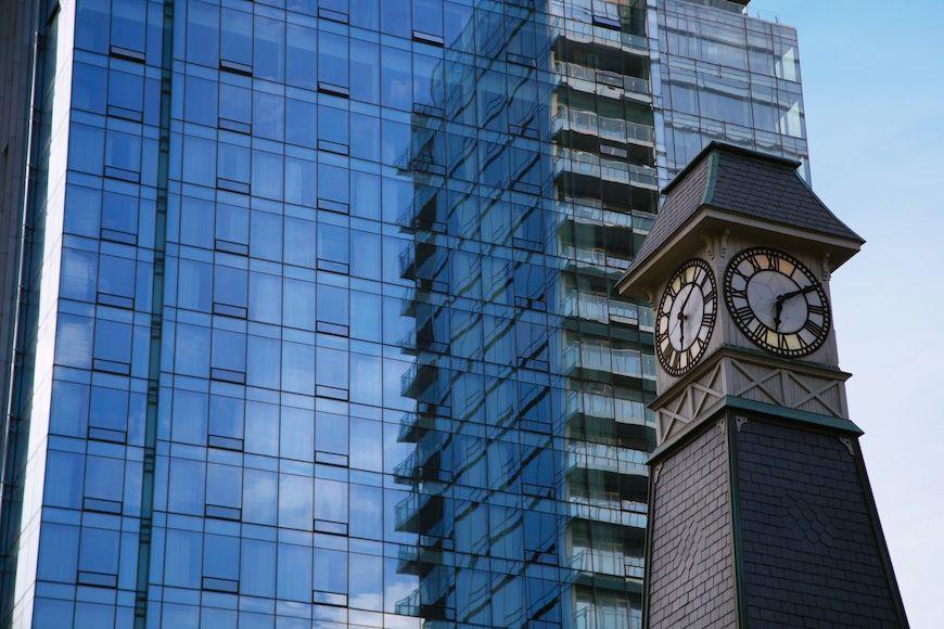 The exterior of Four Seasons Hotel Toronto