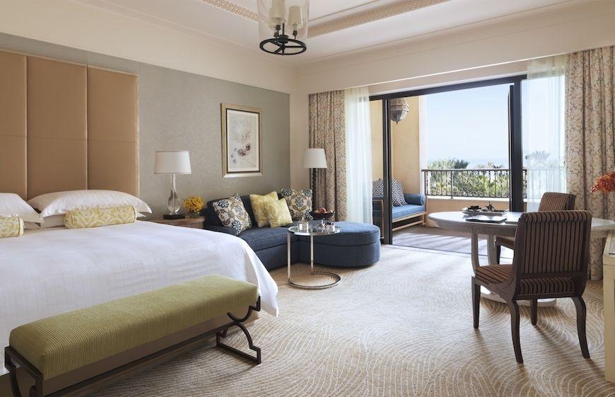 A guestroom at the Four Seasons Resort Dubai at Jumeirah Beach