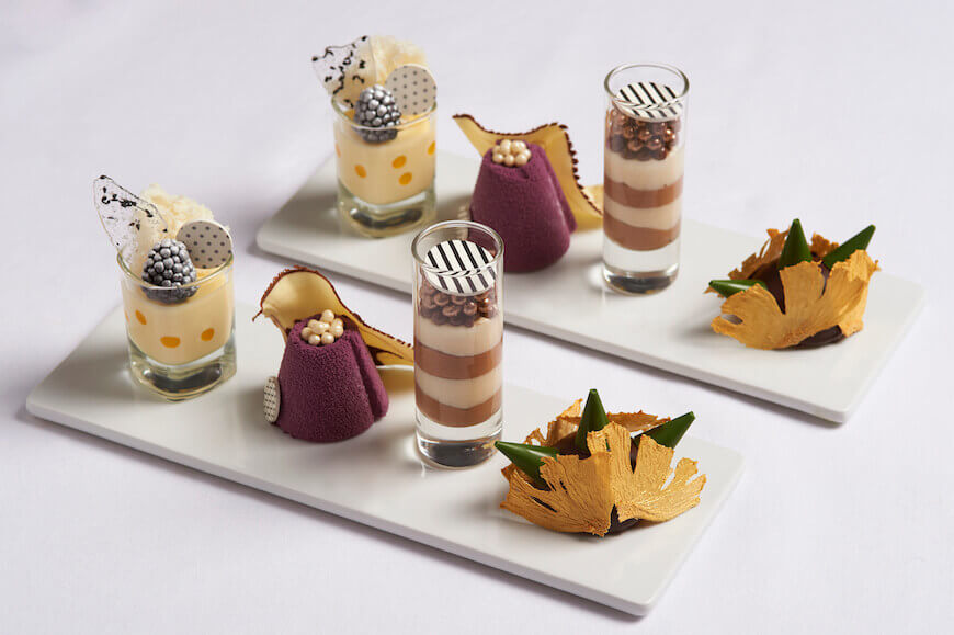 The Conrad afternoon tea service features the Conrad Catwalk