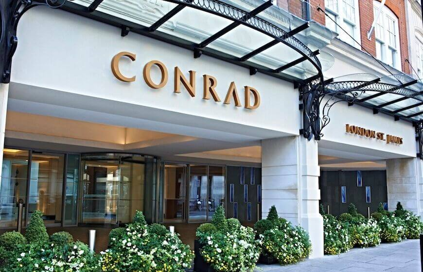 The entrance of Conrad London St. James