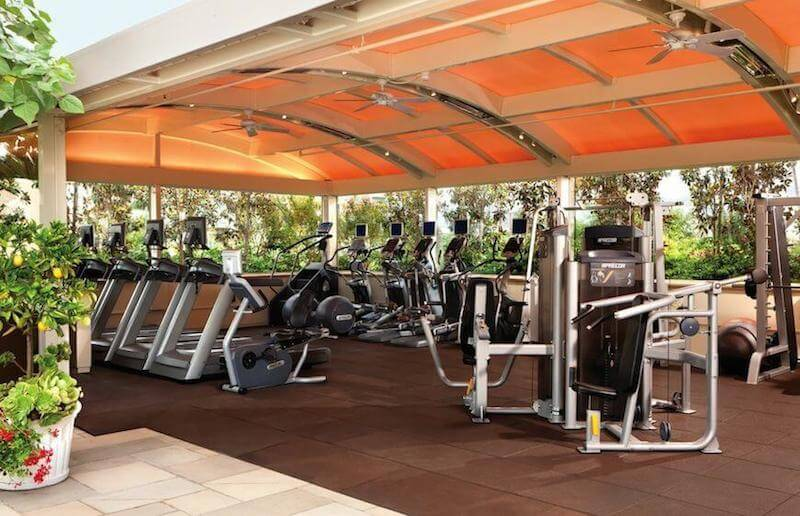 The gym at Four Seasons Hotel Los Angeles at Beverly Hills