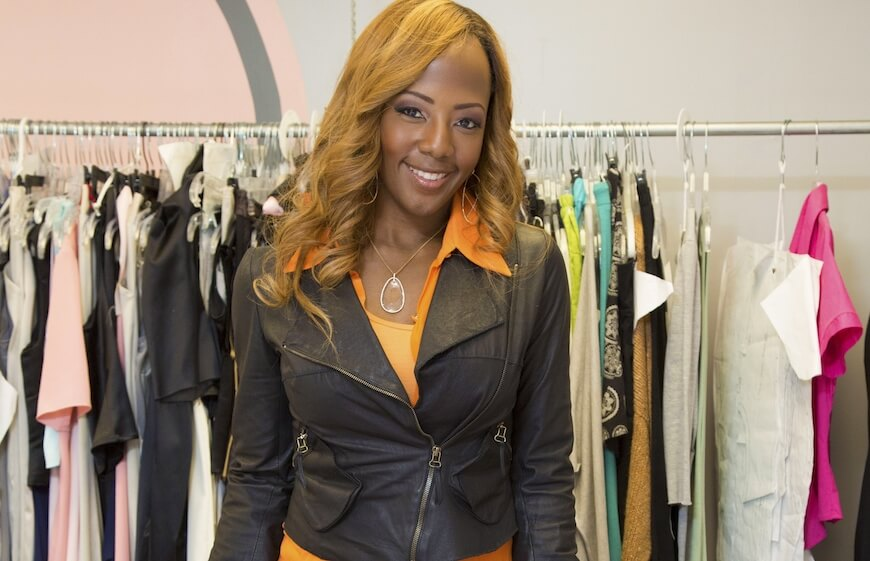 Gail Warrior the entrepreneur with her activewear clothing line
