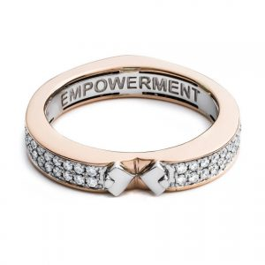 A Diamonds Unleashed empowerment ring