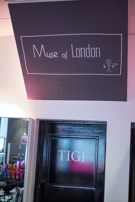 The interior of Muse of London hair salon