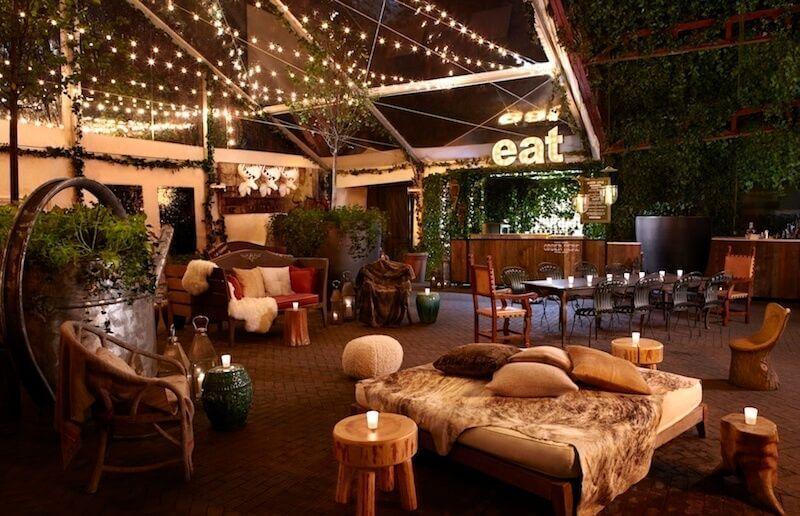 Hudson hotel bar in New York City