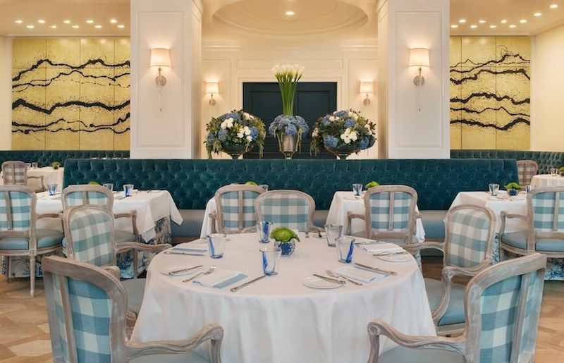 The dining area of The Belvedere Restaurant in Beverly Hills
