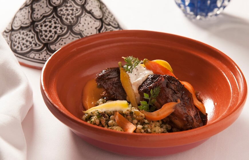 Lamb Tagine at The Belvedere in Beverly Hills