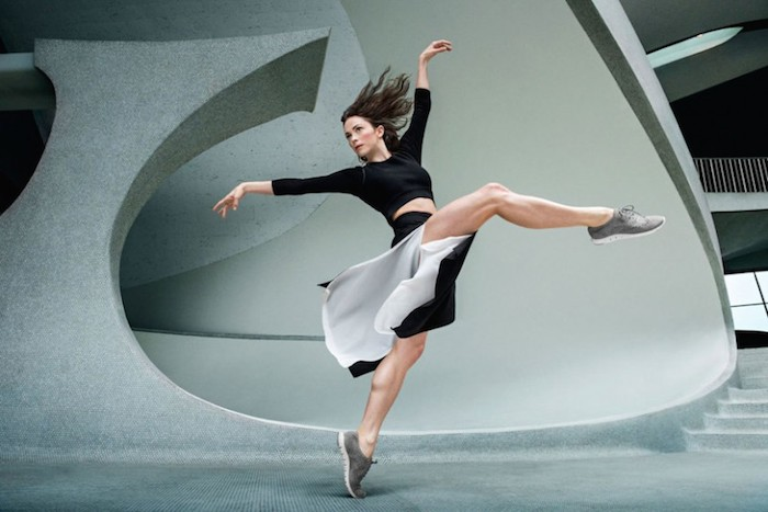 A dancer wearing Cole Haan shoes which are a top fashion trend