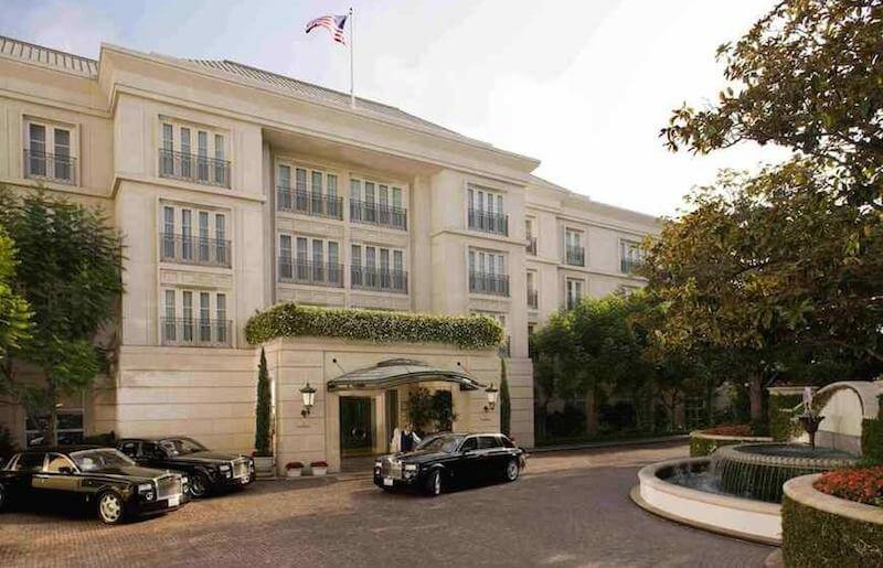 The exterior of The Peninsula Beverly Hills