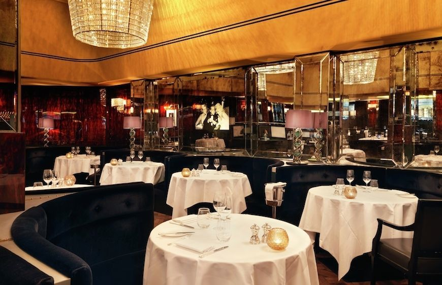 The Savoy Grill restaurant in London