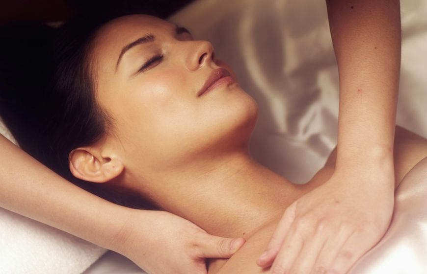 A woman enjoying a treatment at Amore Fitness and Boutique Spa