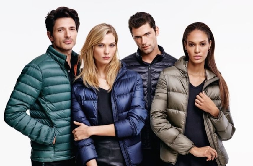 Supermodels modeling fall fashion outifts for Joe Fresh with Karlie Kloss
