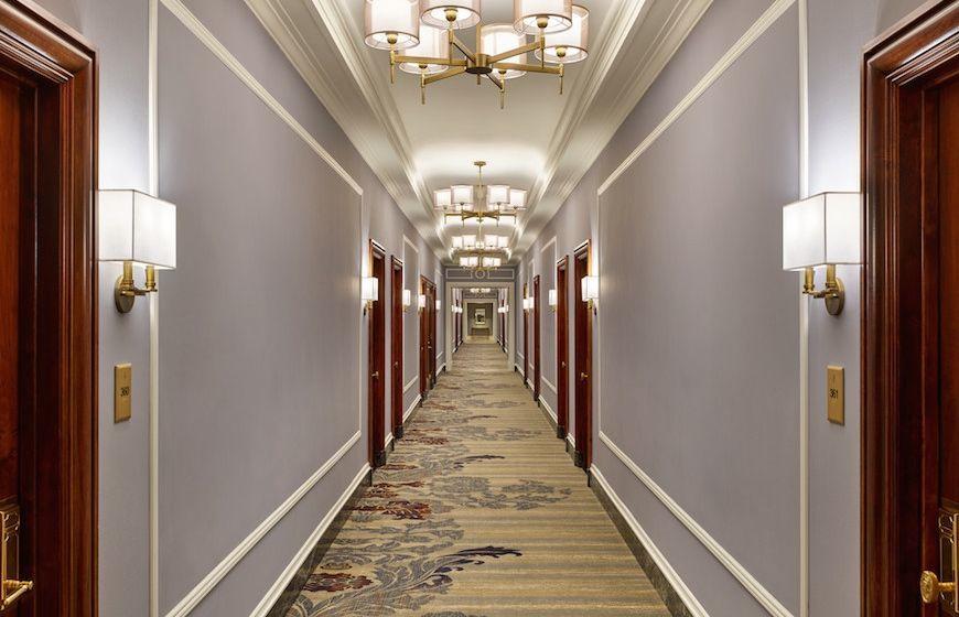 A hallway at The Palace Hotel San Francisco
