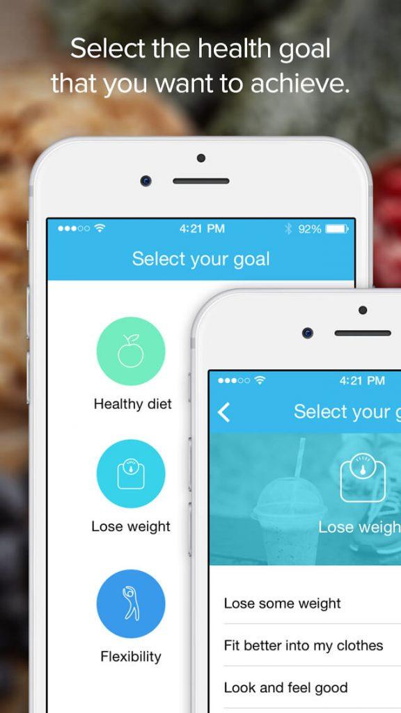 Screenshot of the Fitmo app