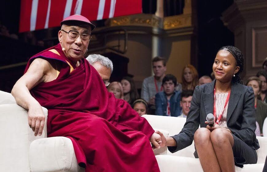 Nkandu Beltz and the Dalai Lama