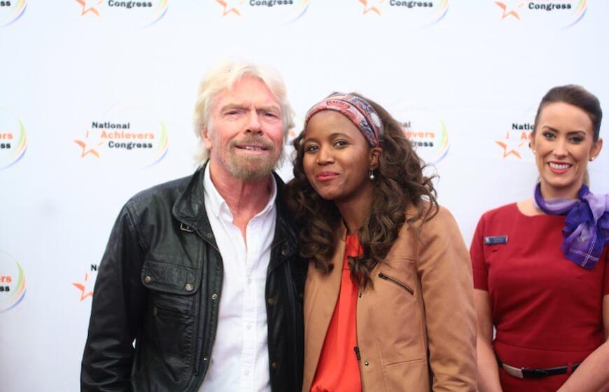 Richard Branson and Nkandu Beltz