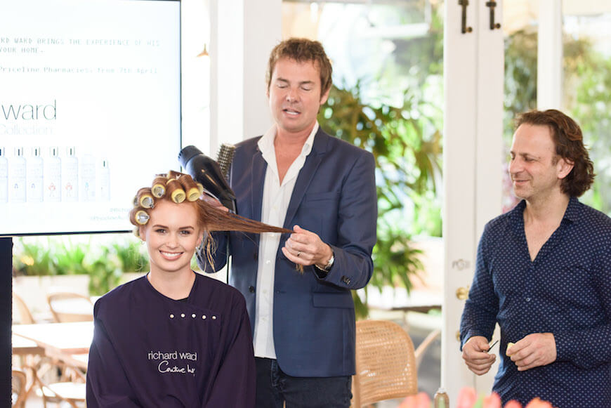 Celebrity hairdresser Richard Ward at the Australian launch of his hair product line, The Chelsea Collection