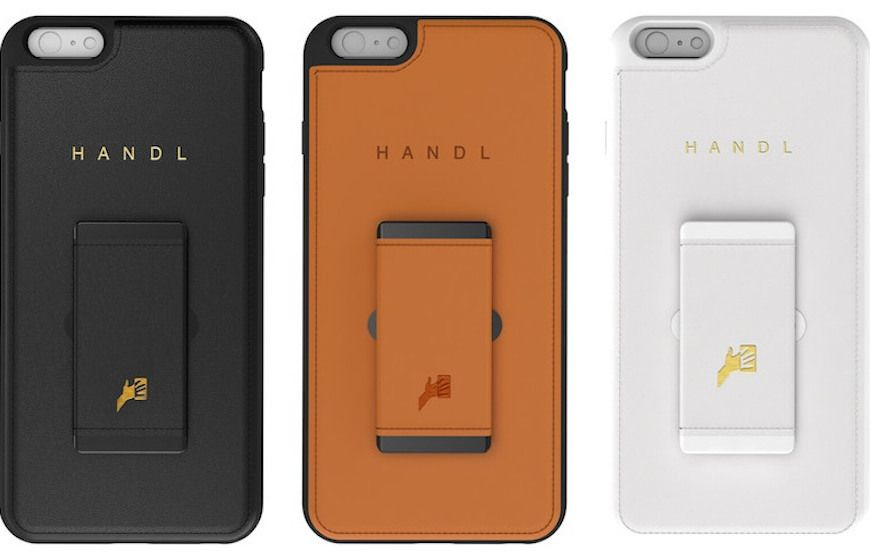 HandL smartphone cases in black, brown and white