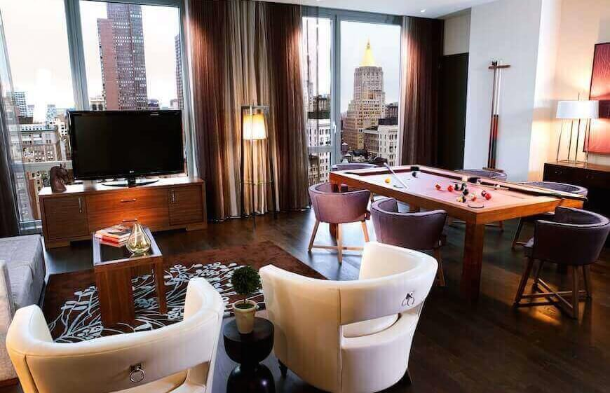 A residential suite Hotel Eventi in New York City