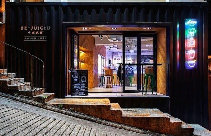 Exterior of Be-Juiced+Bar juice bar in Hong Kong