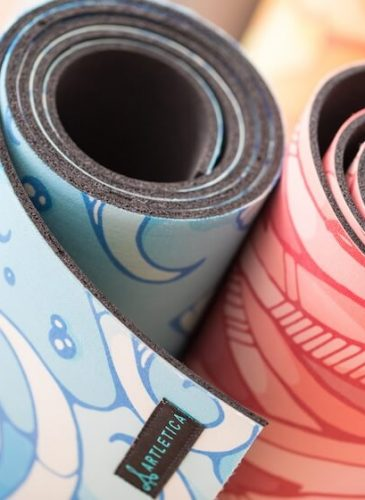 A selection of yoga mats by Artletica